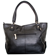 Verona - Leatherbay Small Tote Bag/Black