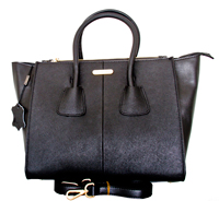 Trapani - Leatherbay Small Tote Handbag/Black