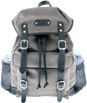Padua - Leatherbay Day Backpack - Grey/Black